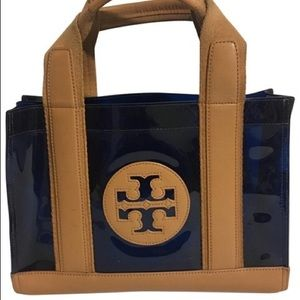 Tory Burch Nylon and Patent Leather Tote